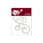 Zva Creative - Self-Adhesive Pearls - Flourish 14 - Taupe