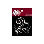 Zva Creative - Self-Adhesive Pearls - Flourish 15 - White