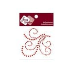 Zva Creative - Self-Adhesive Crystals - Flourish 15 - Red