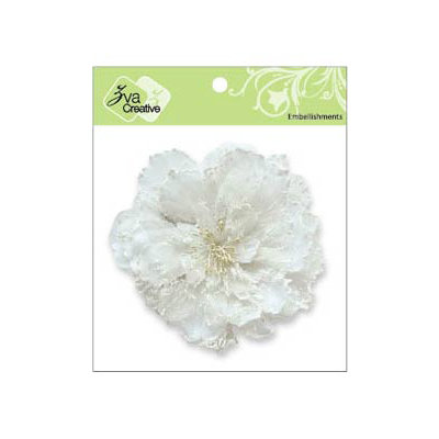 Zva Creative - Flower Embellishments - Key West Keepsakes - White