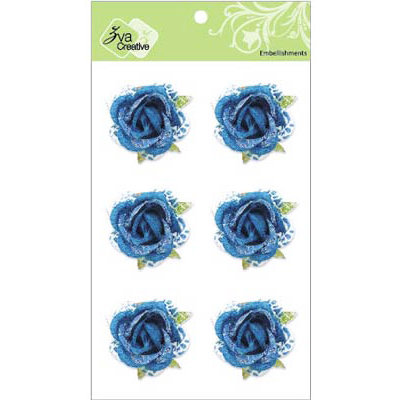 Zva Creative - Flower Embellishments - Galapagos Gardens - Blue