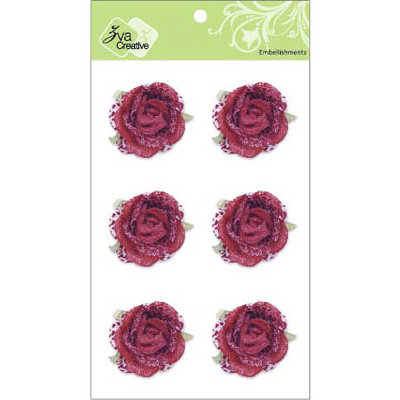 Zva Creative - Flower Embellishments - Galapagos Gardens - Scarlet