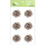 Zva Creative - Flower Embellishments - Galapagos Gardens - Taupe