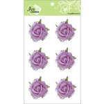 Zva Creative - Flower Embellishments - Galapagos Gardens - Purple