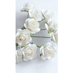 Zva Creative - 5/8 Inch Paper Roses - Bulk - White, CLEARANCE