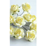 Zva Creative - 5/8 Inch Paper Roses - Bulk - Cream, CLEARANCE