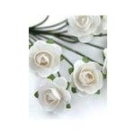 Zva Creative - 7/8 Inch Paper Roses - Bulk - White, CLEARANCE