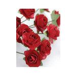Zva Creative - 7/8 Inch Paper Roses - Bulk - Classic Red, CLEARANCE