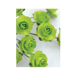Zva Creative - 7/8 Inch Paper Roses - Bulk - Lime, CLEARANCE