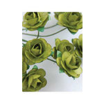 Zva Creative - 7/8 Inch Paper Roses - Bulk - Olive, CLEARANCE
