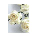 Zva Creative - 1.25 Inch Paper Roses - Bulk - Cream, CLEARANCE