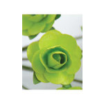 Zva Creative - 1.25 Inch Paper Roses - Bulk - Lime, CLEARANCE