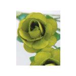 Zva Creative - 1.25 Inch Paper Roses - Bulk - Olive, CLEARANCE