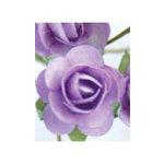 Zva Creative - 1.25 Inch Paper Roses - Bulk - Lavender, CLEARANCE