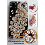 Zva Creative - iPhone 4 / 4S Case - Peacock Crystal - Clear
