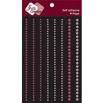 Zva Creative - Self-Adhesive Pearls - Lines - Lavender Pink and Rosy Pink, CLEARANCE