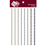Zva Creative - Self-Adhesive Pearls - Lines - Night Blue and Taupe, CLEARANCE