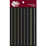 Zva Creative - Self-Adhesive Pearls - Lines - Soft Blue and Lime, CLEARANCE
