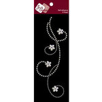 Zva Creative - Self-Adhesive Pearls - Curly Sue - White, CLEARANCE