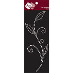 Zva Creative - Self-Adhesive Pearls - Leaved Branch - Meadow Vine - White, CLEARANCE