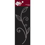 Zva Creative - Self-Adhesive Pearls - Leaved Branch - Meadow Vine - White, CLEARANCE