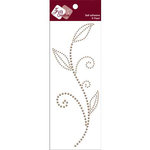 Zva Creative - Self-Adhesive Pearls - Leaved Branch - Meadow Vine - Taupe, CLEARANCE