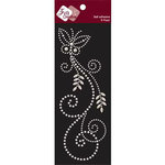 Zva Creative - Self-Adhesive Pearls - Fancy Butterfly - White, CLEARANCE