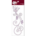 Zva Creative - Self-Adhesive Pearls - Fancy Butterfly - Lavender Pearl and Crystal, CLEARANCE
