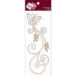Zva Creative - Self-Adhesive Pearls - Fancy Butterfly - Peach Pearls and Champagne Crystals, CLEARANCE