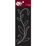 Zva Creative - Self-Adhesive Pearls - Leaved Branch - Rainy Vine - White, CLEARANCE