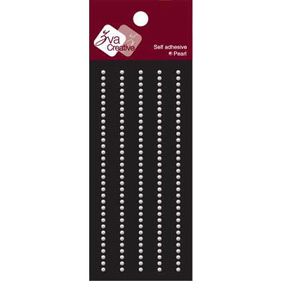 Zva Creative - Self-Adhesive Pearls - Basic Lines - .2 cm - White