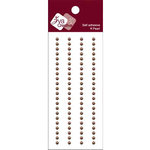 Zva Creative - Self-Adhesive Pearls - Basic Lines - .3 cm - Chocolate, CLEARANCE