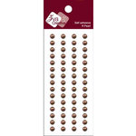 Zva Creative - Self-Adhesive Pearls - Basic Lines - .5 cm - Chocolate, CLEARANCE
