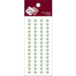 Zva Creative - Self-Adhesive Pearls - Basic Lines - .5 cm - Lime, CLEARANCE