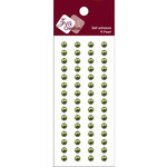 Zva Creative - Self-Adhesive Pearls - Basic Lines - .5 cm - Olive, CLEARANCE
