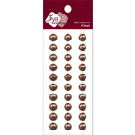 Zva Creative - Self-Adhesive Pearls - Basic Lines - .8 cm - Chocolate, CLEARANCE