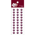 Zva Creative - Self-Adhesive Pearls - Basic Lines - .8 cm - Grape, CLEARANCE