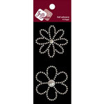 Zva Creative - Self-Adhesive Pearls - Small - Flowers - White, CLEARANCE