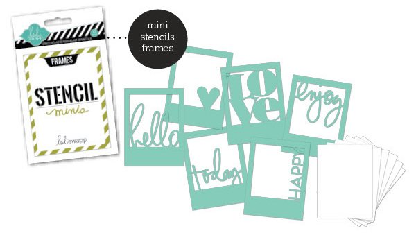 Stencil Kit Eyeglass Frame : American Crafts Heidi Swapp Frames Stencil Mini Kit