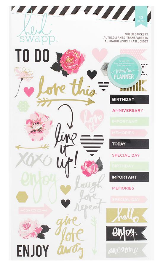 Heidi Swapp Hello Beautiful Collection Memory Planner