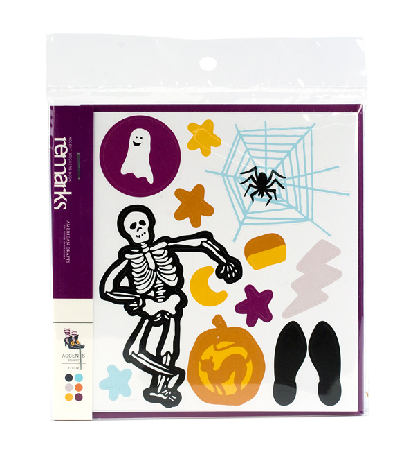 american crafts   halloween collection   remarks   stickers book