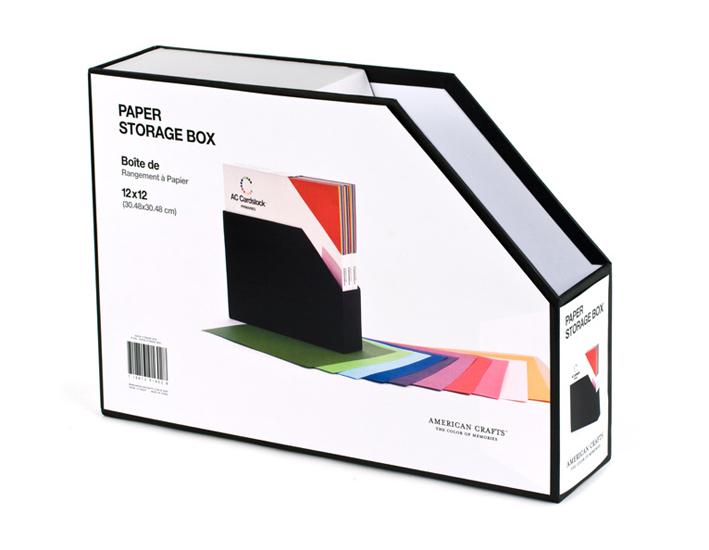 american crafts 12 x 12 paper storage box. Black Bedroom Furniture Sets. Home Design Ideas