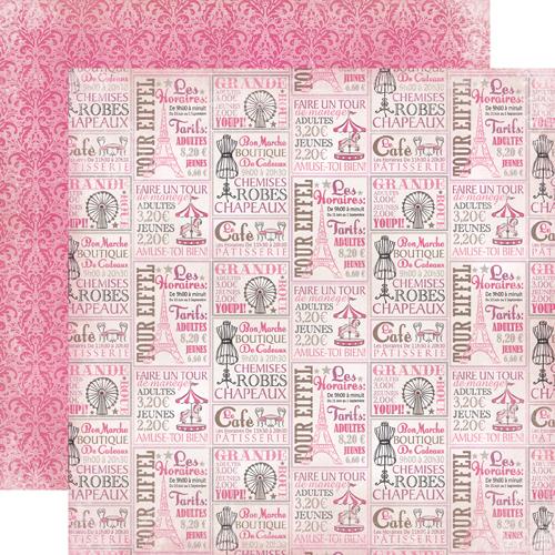 Carta bella paper paris girl collection 12 x 12 double - Boutique scrapbooking paris ...
