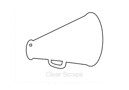 Clear scraps clear album mini megaphone for Cheerleader template