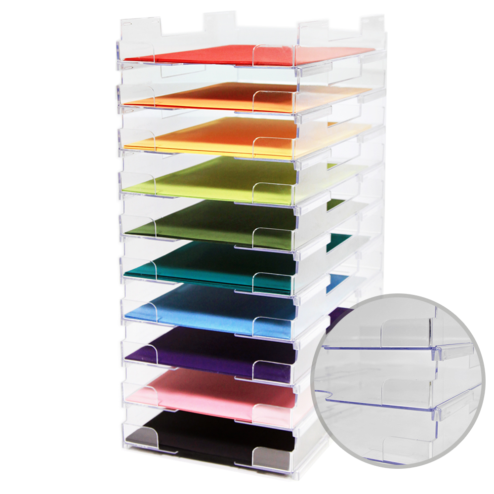 Display Dynamics 8 5 X 11 Perfect Paper Stackable Paper