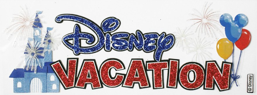 Ek Success Disney Collection 3 Dimensional Stickers Disney Vacation Title