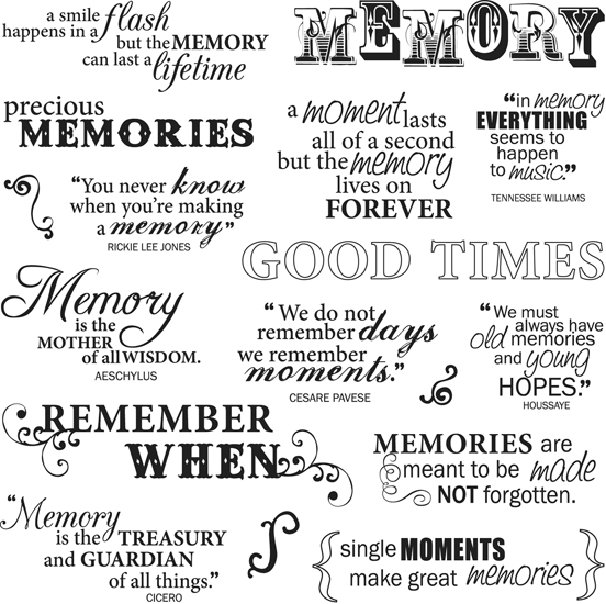 Good Times Quotes: Clear Acrylic Stamps