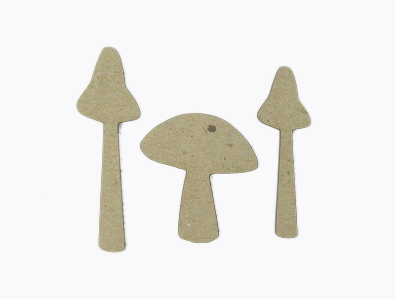 Chipboard Shapes Ideas ~ Grapevine designs and studio chipboard shapes mushroom set