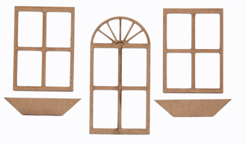 Grapevine designs and studio chipboard shapes door and for Window shapes and designs