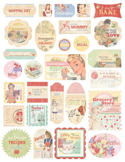 Melissa Frances - Kitschy Kitchen Collection - Cardstock